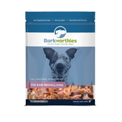 Barkworthies Pig Ear Medallions Treat Bag