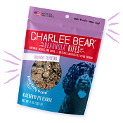 Charlee Bears Bearnola Bites Blueberry Pie