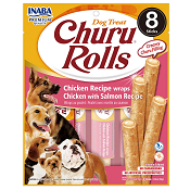 Churu Rolls - Chicken Recipe Wraps - Salmon Recipe for Dogs