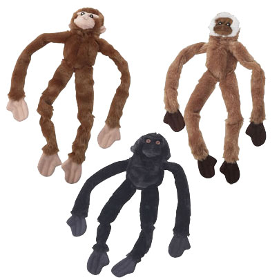 Stuffed Monkey Dog Toy Stuffing Free Dog Toy 16