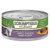 Scrumptious: Simply Chicken Wet Cat Food - 3 oz