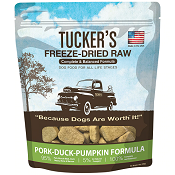 Tucker's Freeze Dried Dog Food: Duck, Pork, and Pumpkin