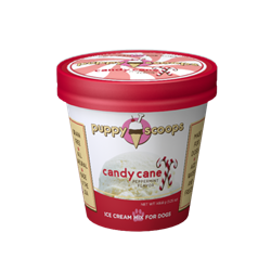 Puppy Scoops - Candy Cane - Ice Cream Mix for Dogs