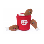 Zippy Paws Burrow Bucket of Chicken Dog Toy