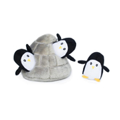 Zippy Paws Burrow Penguin Cave Dog Toy