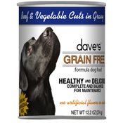 Dave's Grain-Free Canned Dog Food - Beef & Vegetables 13.2 oz