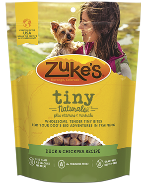 Zuke's TINY Naturals for Dogs - Duck & Chickpea